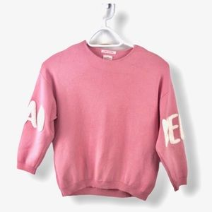 Zara Ciao Bella Pink Sweater Size 8